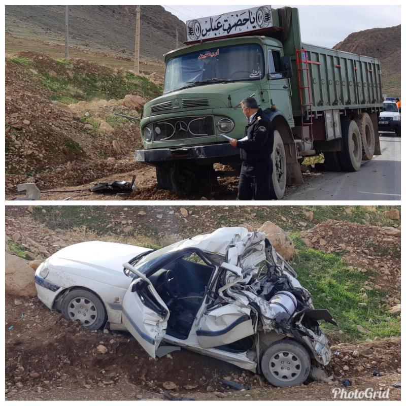 دو کشته و زخمی درسانحه رانندگی محور سرپل ذهاب به پلیس راه