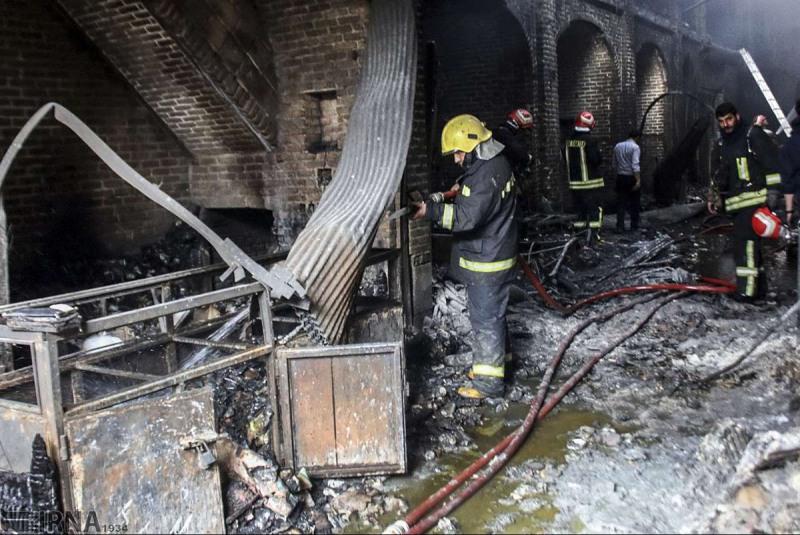 گرانی تجهیزات آتشنشانی، فقدان نظارت و آموزش؛ چاشنی حریق در بازارهای تاریخی