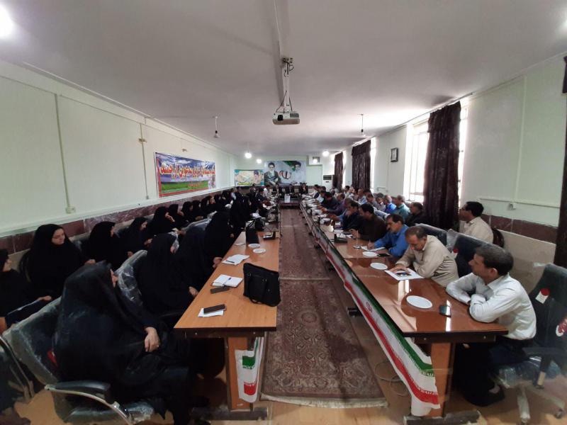 جلسه پروژه مهر و بازگشایی مدارس شهرستان سرپل ذهاب برگزار شد