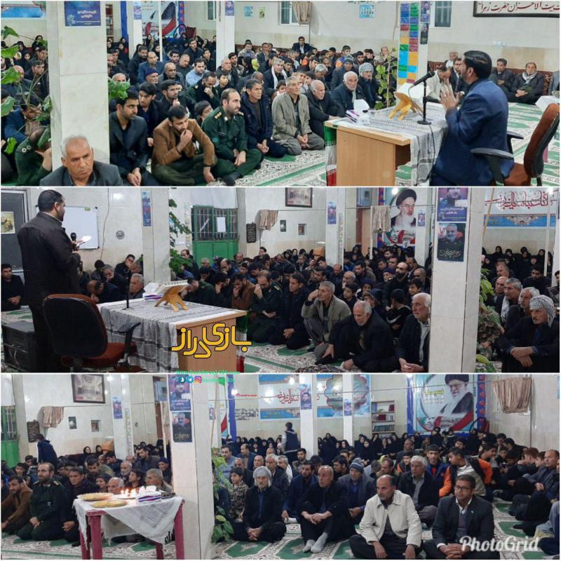 مراسم سوگواری شهادت سردار قاسم سلیمانی در روستای شهید پرور آینه سرپلذهاب برگزار شد