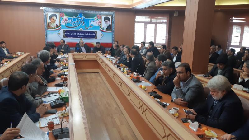 جلسه ستاد بازسازی مناطق زلزله زده استان کرمانشاه در سرپلذهاب برگزار شد